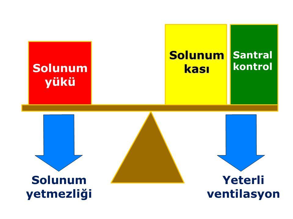 Solunum kası Solunum yükü Solunum yetmezliği Yeterli ventilasyon