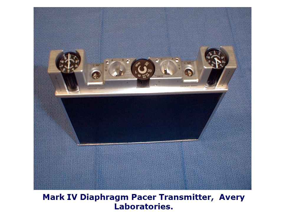 Mark IV Diaphragm Pacer Transmitter, Avery Laboratories.