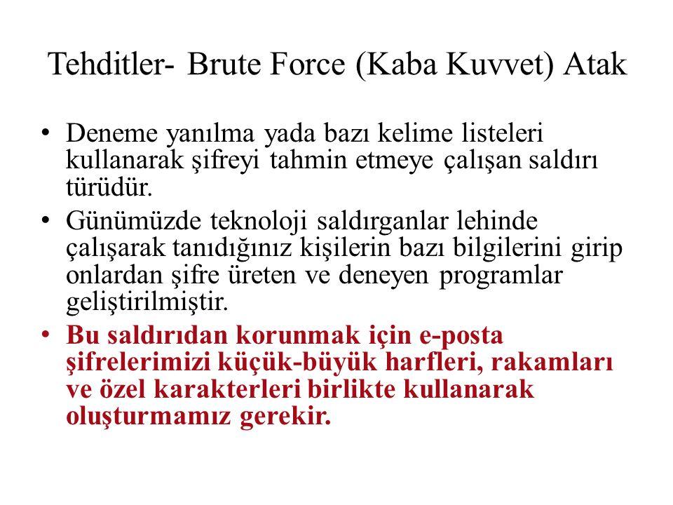 Tehditler- Brute Force (Kaba Kuvvet) Atak