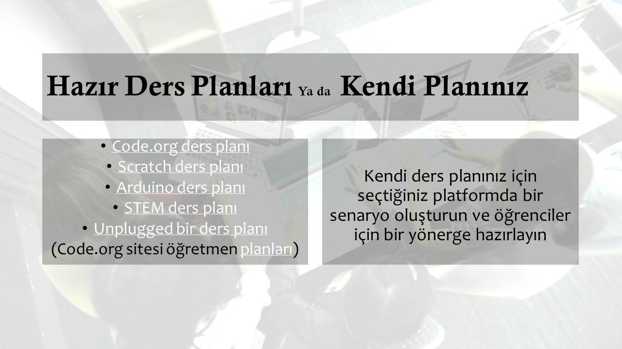 Hazır Ders Planları Ya da Kendi Planınız