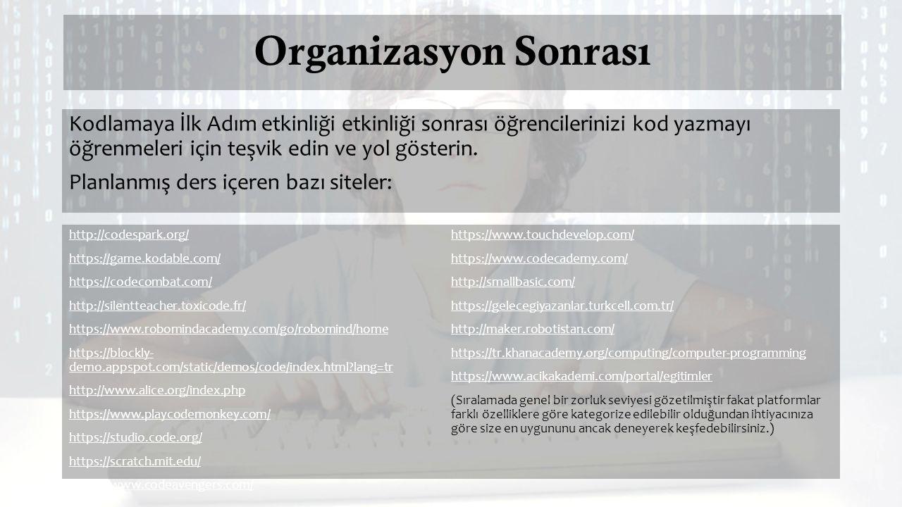 Organizasyon Sonrası