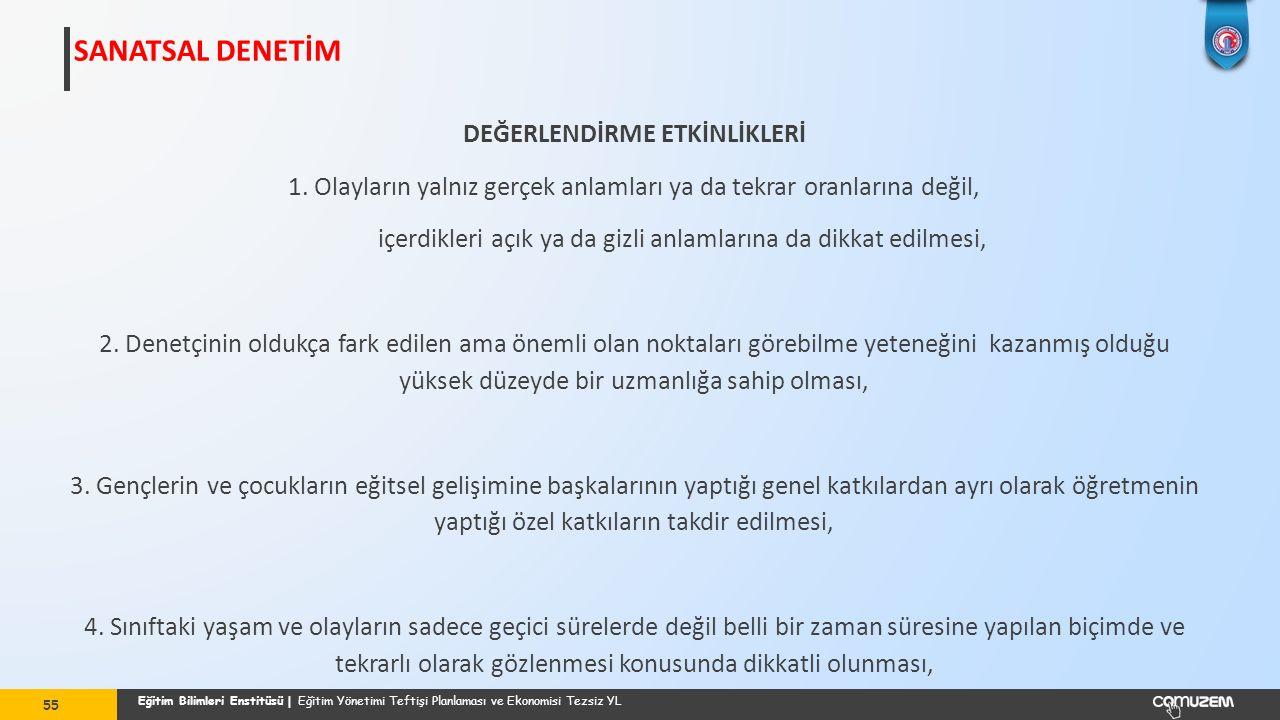 SANATSAL DENETİM