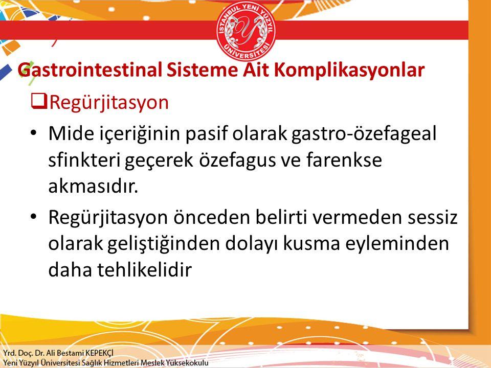 Gastrointestinal Sisteme Ait Komplikasyonlar