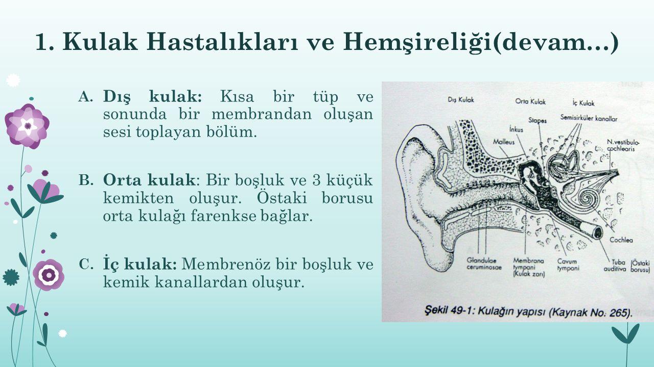 1. Kulak Hastalıkları ve Hemşireliği(devam…)