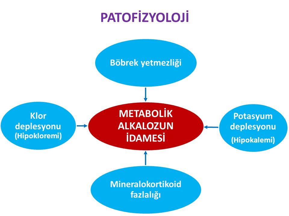PATOFİZYOLOJİ METABOLİK ALKALOZUN İDAMESİ Potasyum deplesyonu