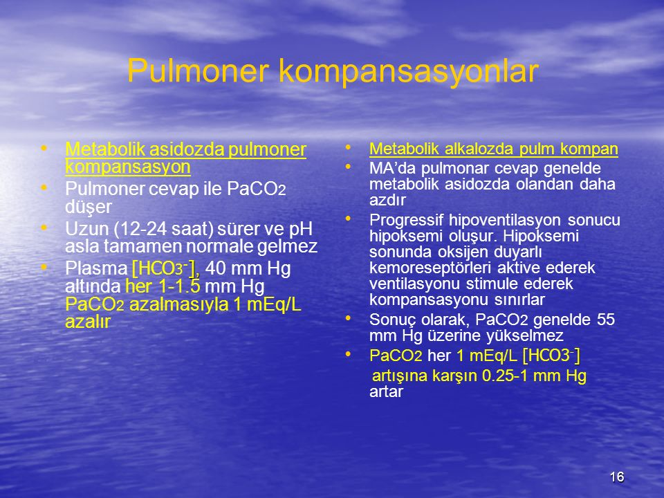 Pulmoner kompansasyonlar