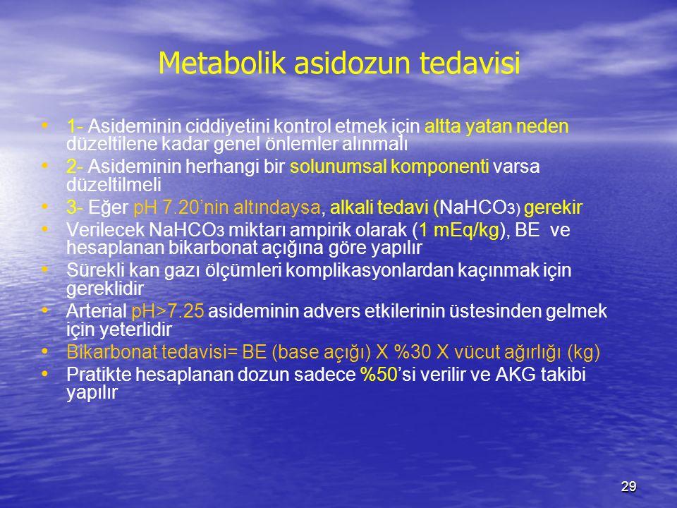 Metabolik asidozun tedavisi