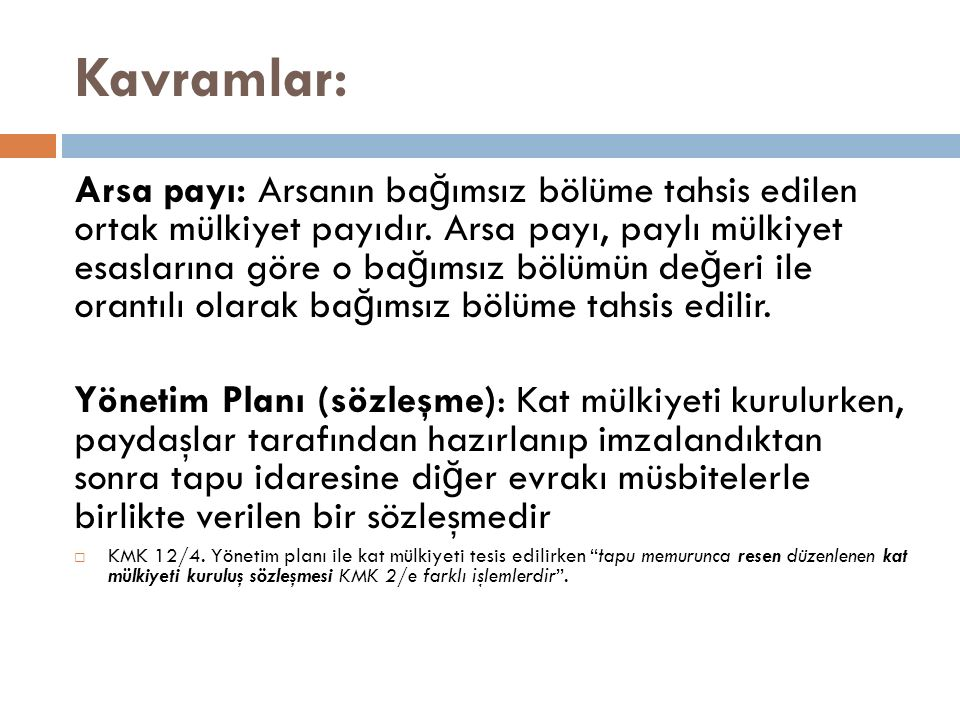 Kavramlar: