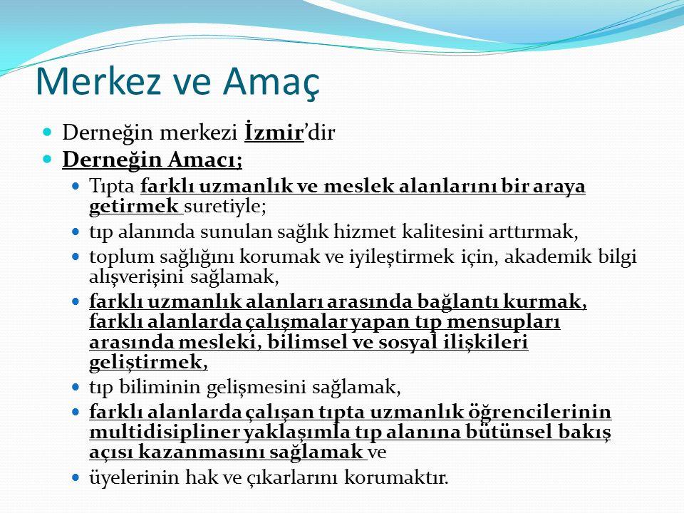 Merkez ve Amaç Derneğin merkezi İzmir'dir Derneğin Amacı;