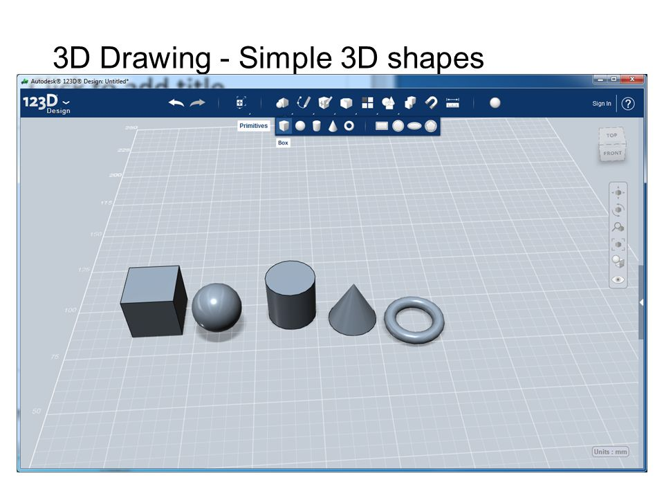 3D Drawing - Simple 3D shapes
