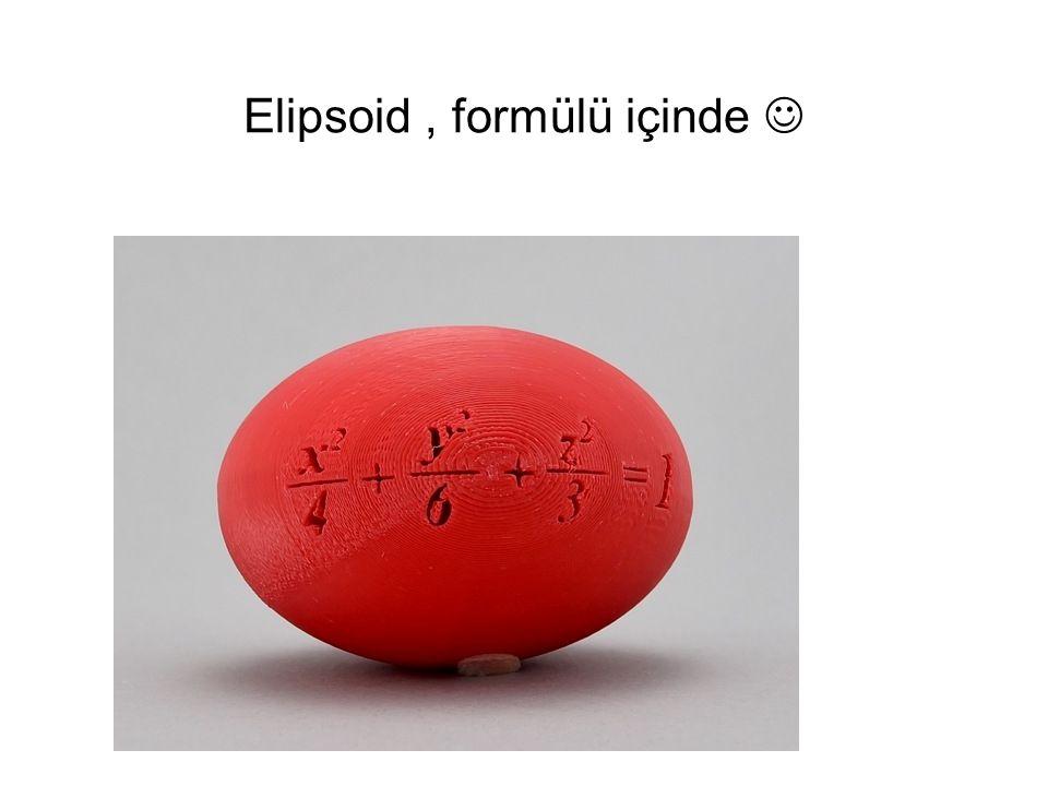 Elipsoid , formülü içinde 