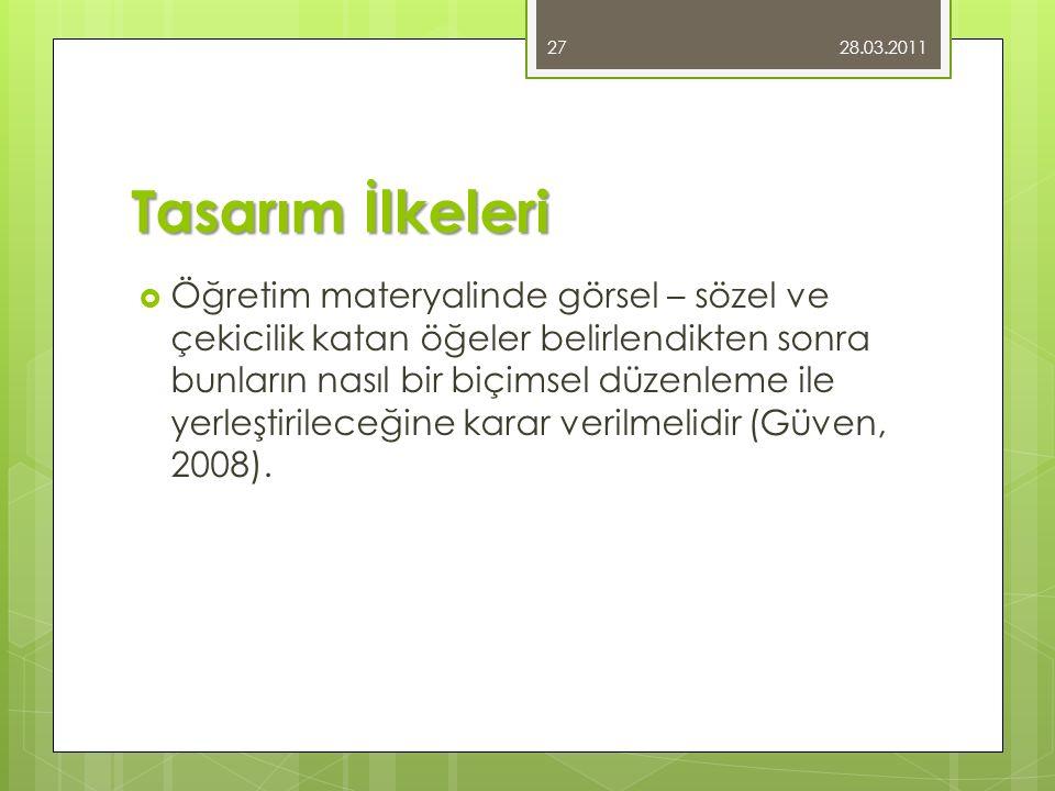 28.03.2011 Tasarım İlkeleri.