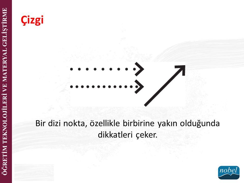 Bir dizi nokta, özellikle birbirine yakın olduğunda dikkatleri çeker.