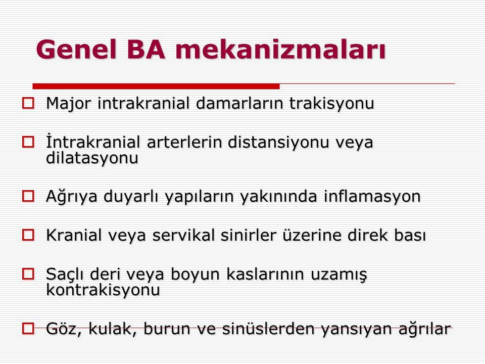 Genel BA mekanizmaları