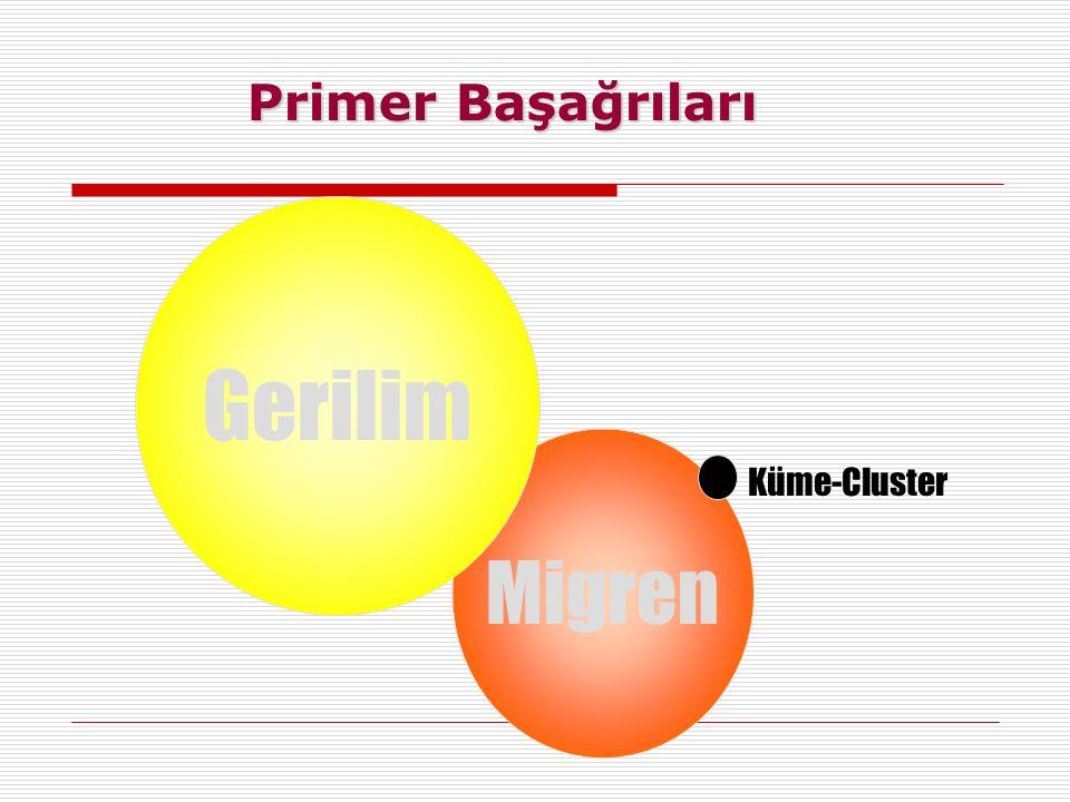 Primer Başağrıları Gerilim Migren Küme-Cluster