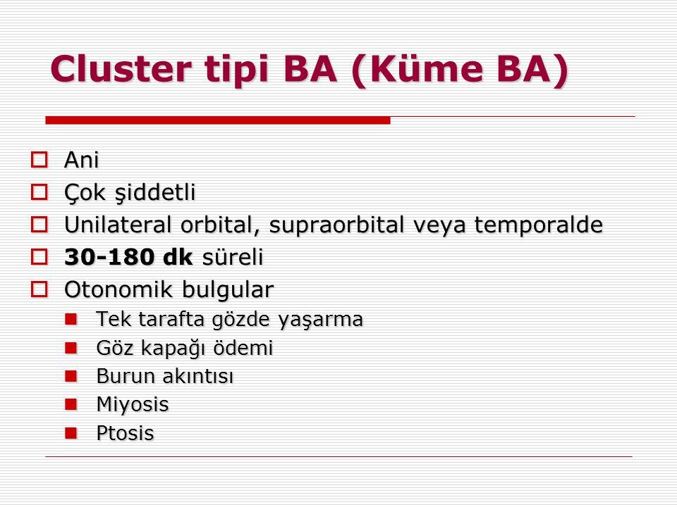 Cluster tipi BA (Küme BA)