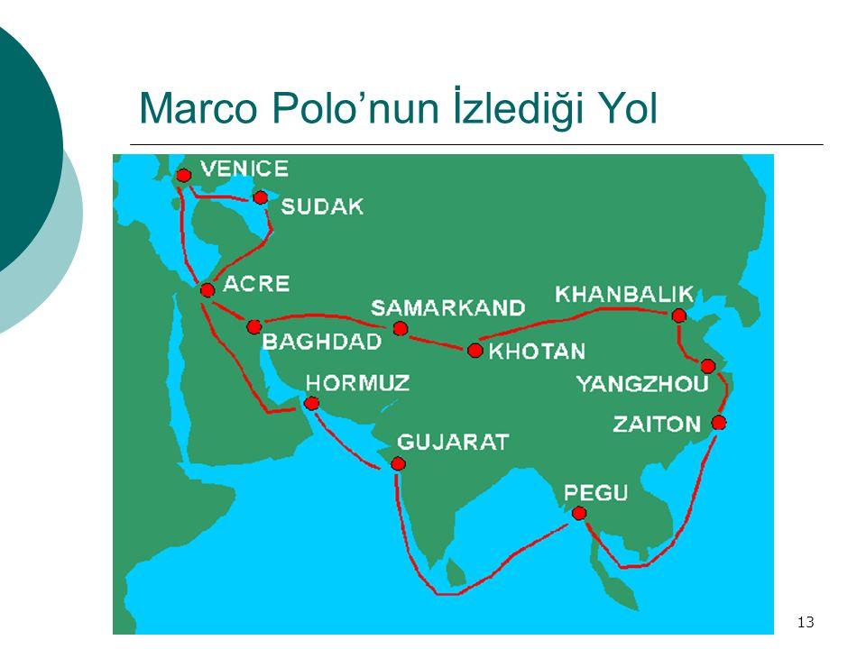 Marco Polo'nun İzlediği Yol