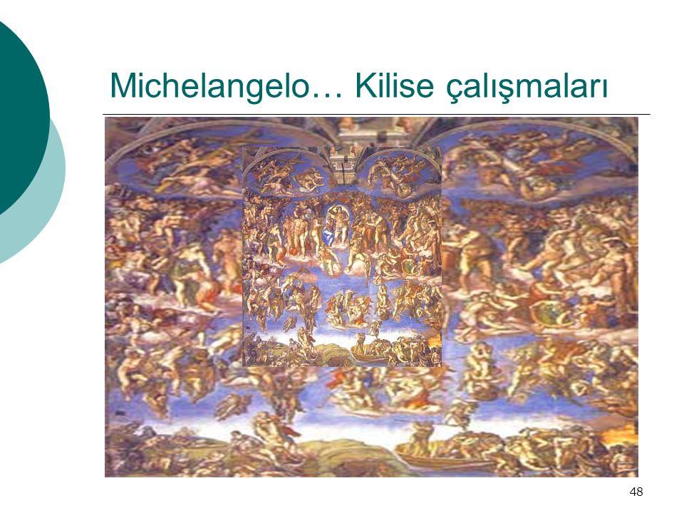 Michelangelo… Kilise çalışmaları