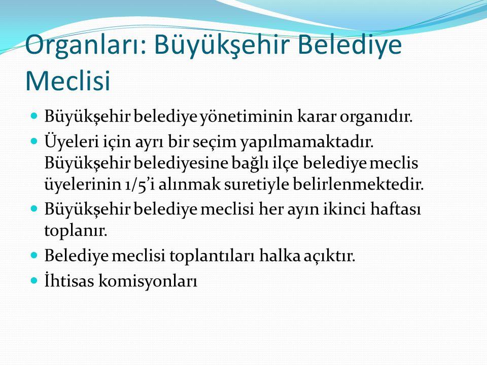 Organları: Büyükşehir Belediye Meclisi