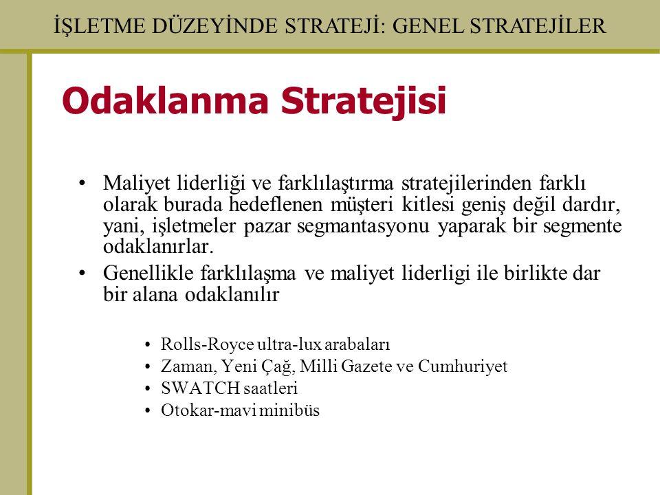 Odaklanma Stratejisi