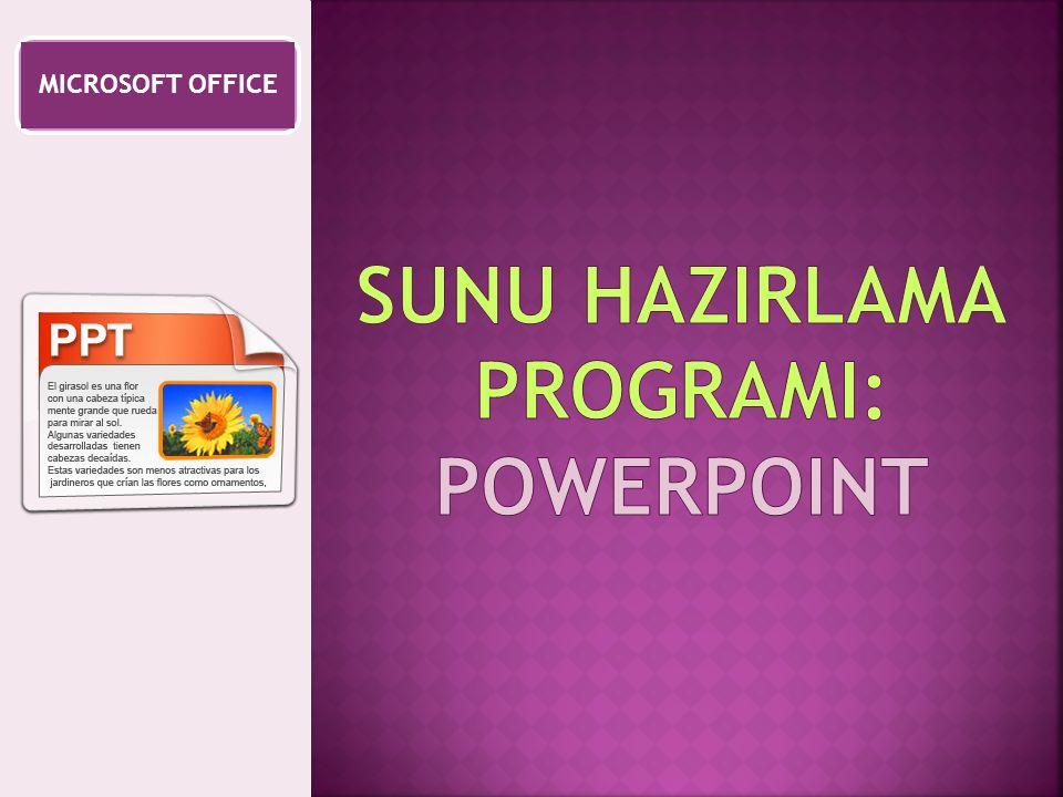 SUNU HAZIRLAMA PROGRAMI: powerpoint