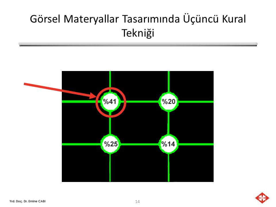 Görsel Materyallar Tasarımında Üçüncü Kural Tekniği