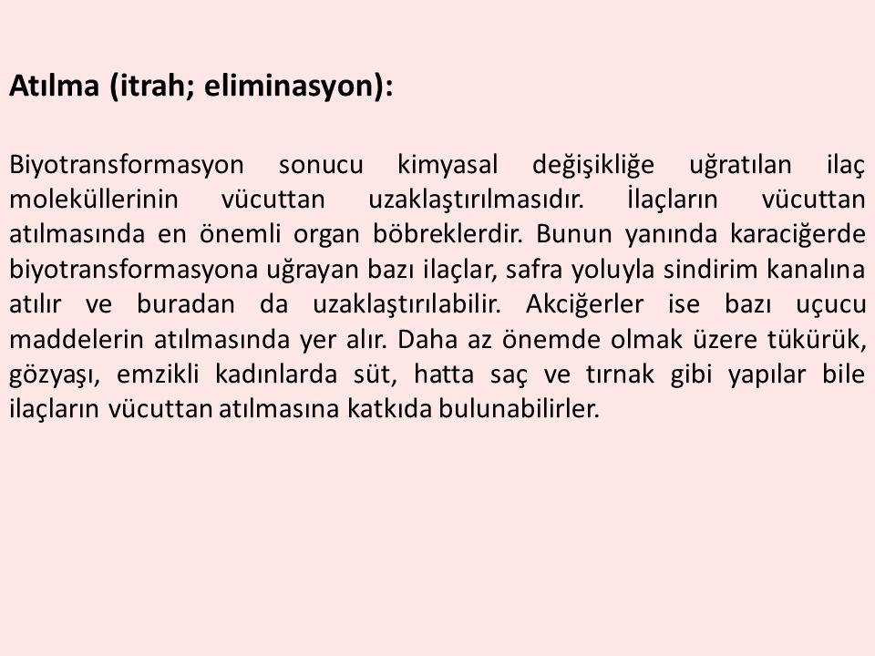 Atılma (itrah; eliminasyon):