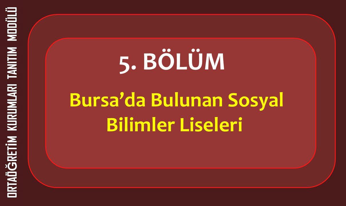 Bursa'da Bulunan Sosyal