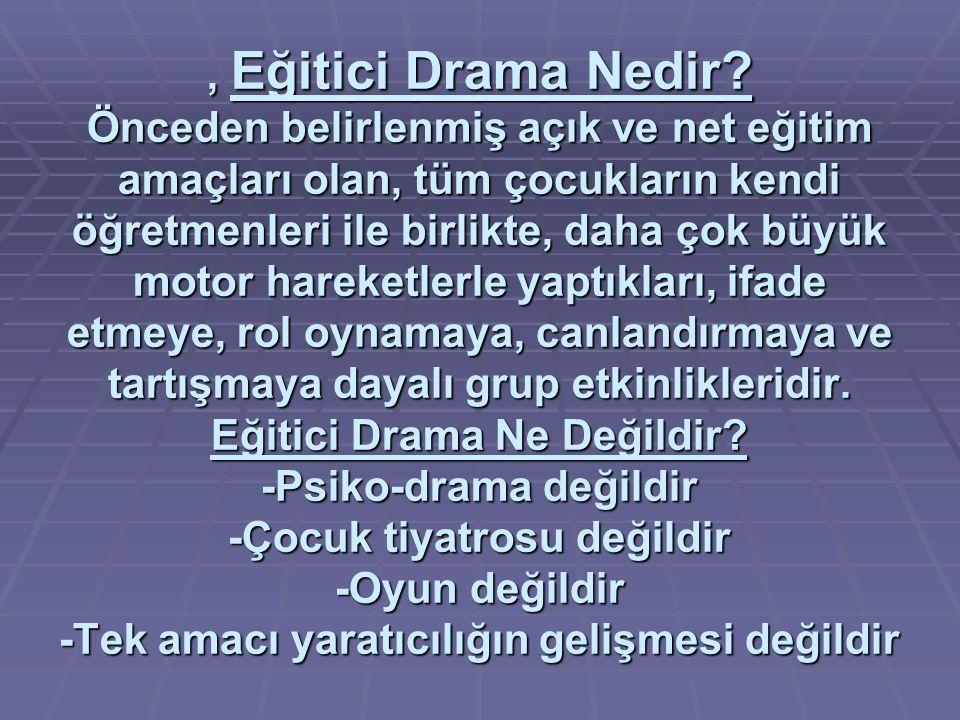 , Eğitici Drama Nedir.
