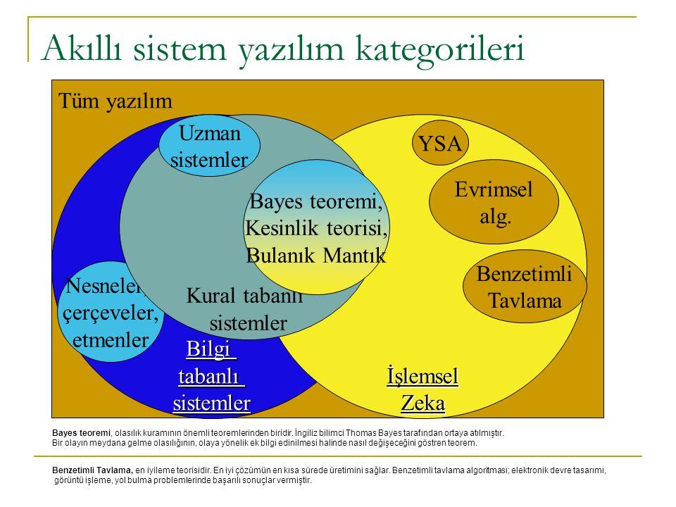 Akıllı sistem yazılım kategorileri