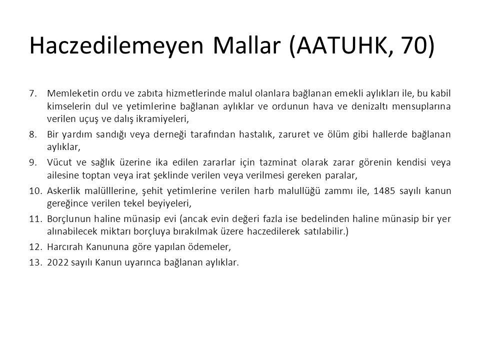 Haczedilemeyen Mallar (AATUHK, 70)