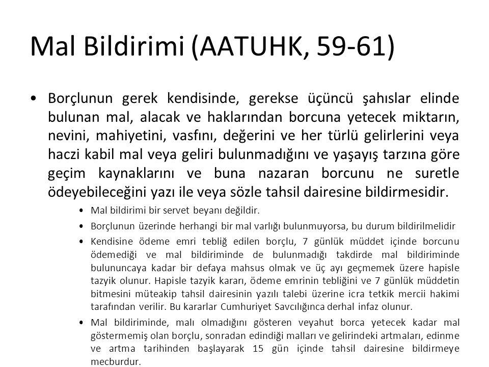 Mal Bildirimi (AATUHK, 59-61)