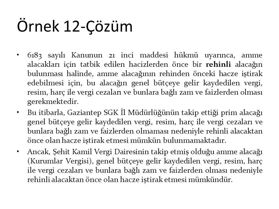 Örnek 12-Çözüm