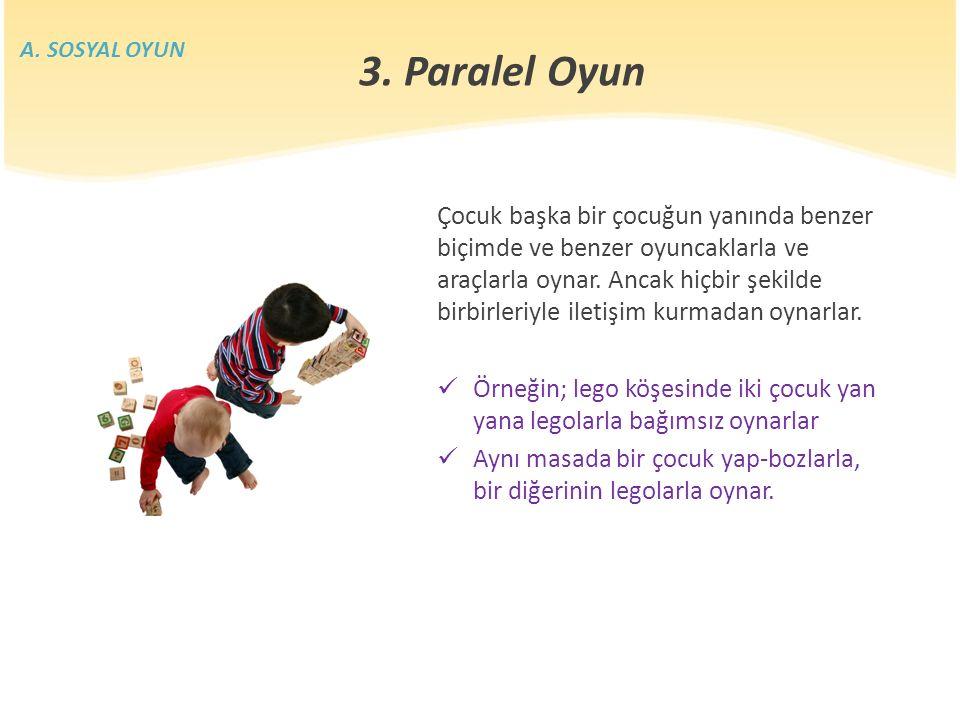 A. SOSYAL OYUN 3. Paralel Oyun.
