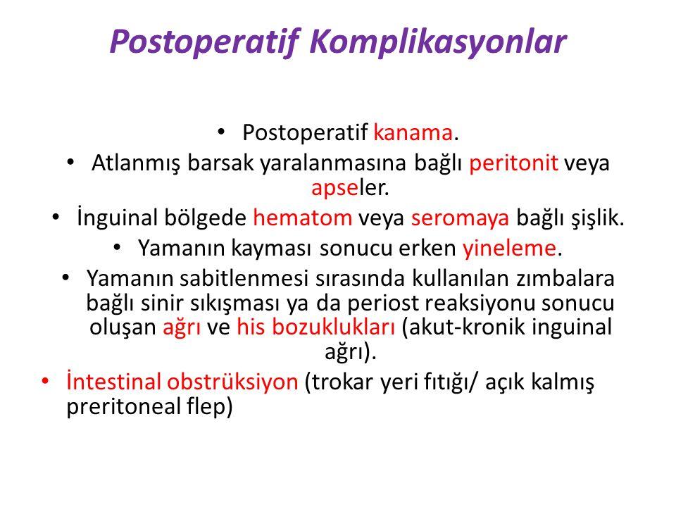 Postoperatif Komplikasyonlar