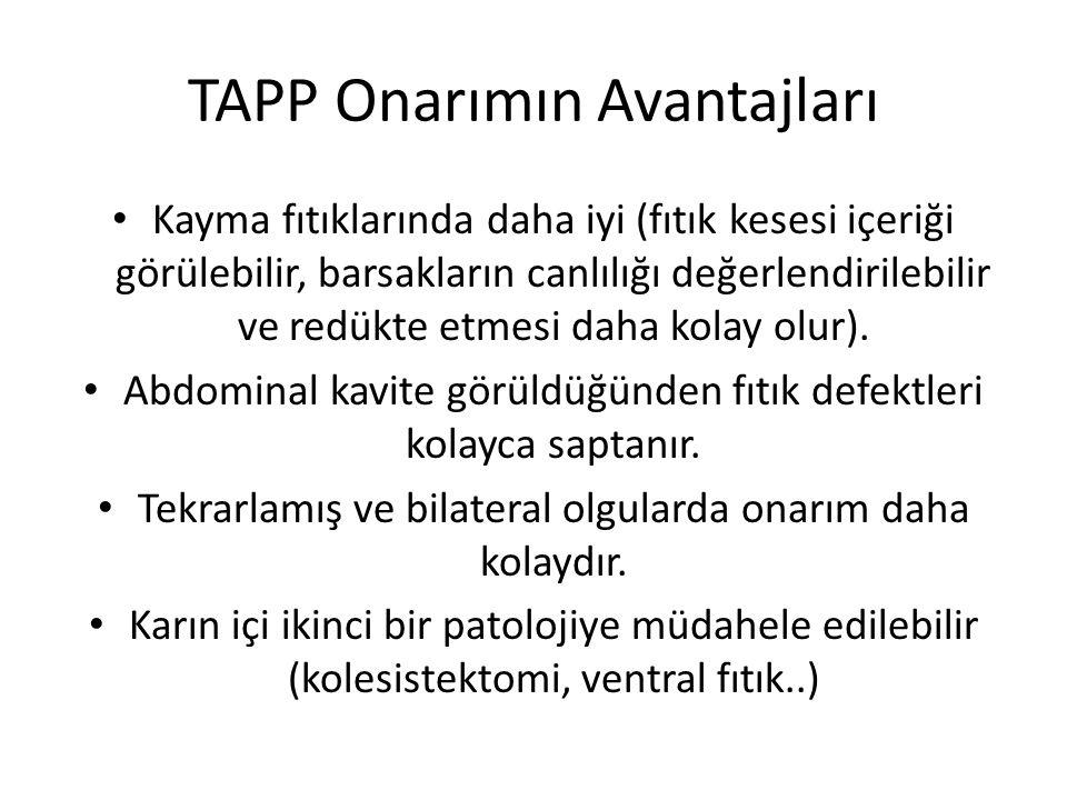 TAPP Onarımın Avantajları