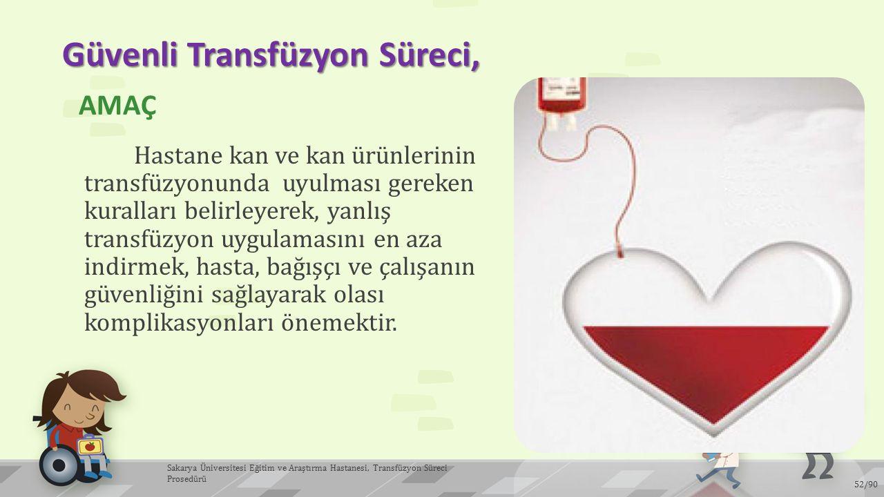 Güvenli Transfüzyon Süreci,