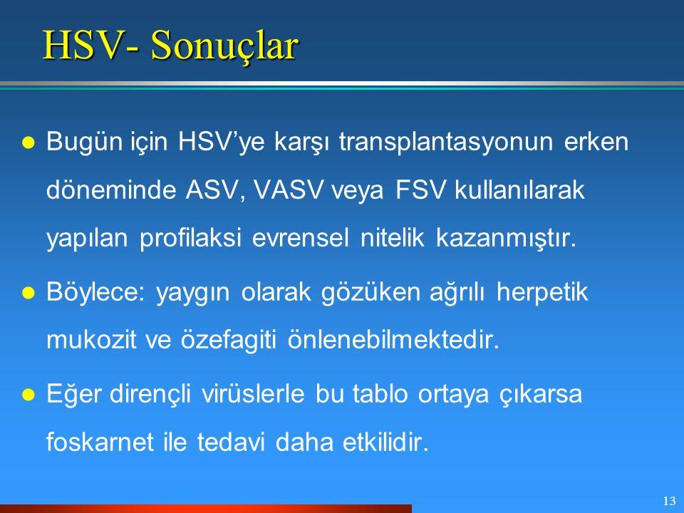 HSV- Sonuçlar