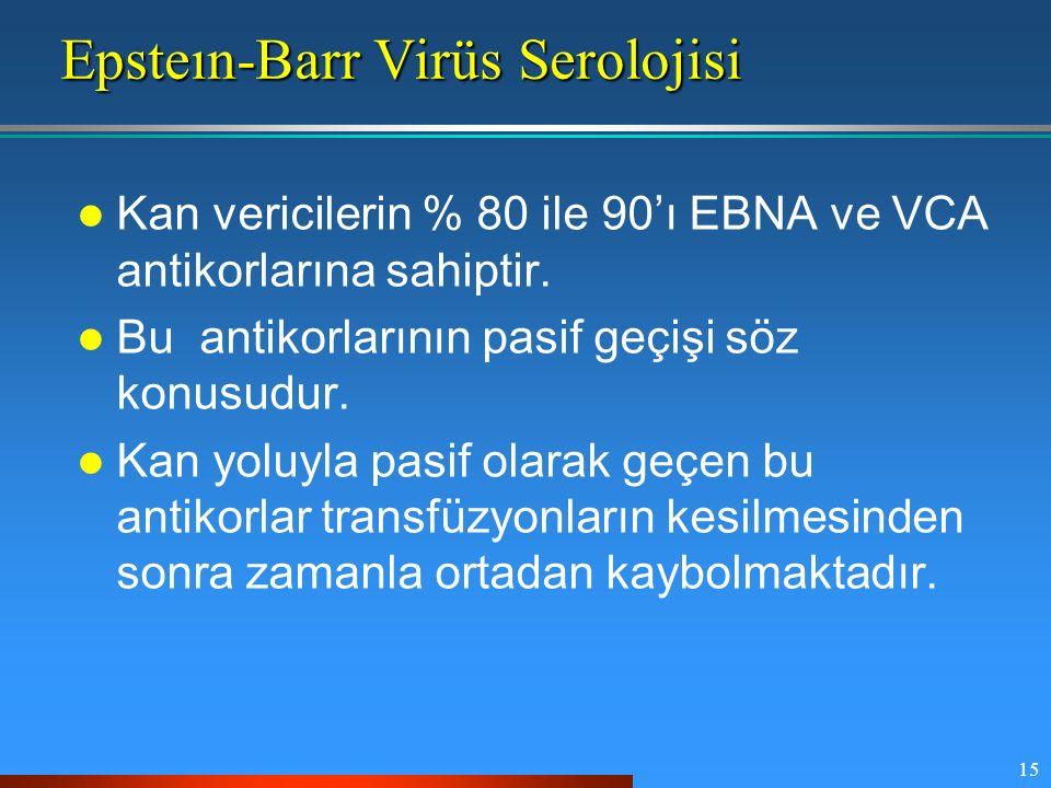 Epsteın-Barr Virüs Serolojisi
