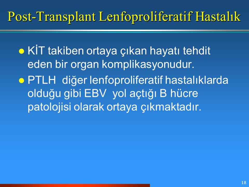 Post-Transplant Lenfoproliferatif Hastalık