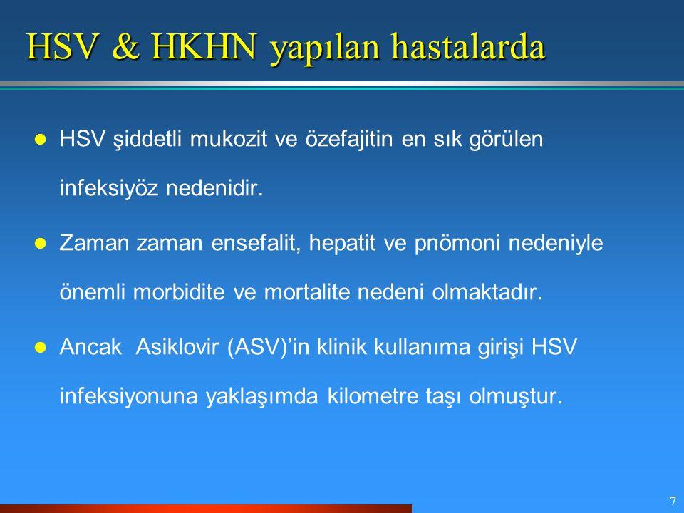 HSV & HKHN yapılan hastalarda