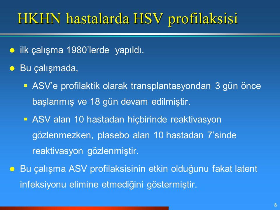 HKHN hastalarda HSV profilaksisi