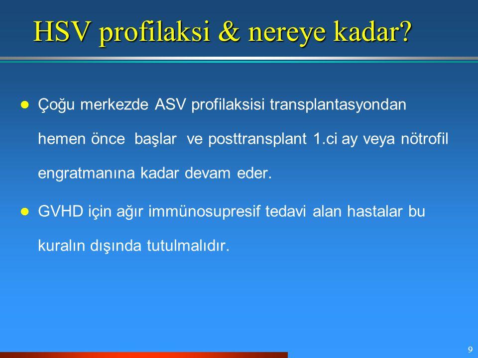 HSV profilaksi & nereye kadar
