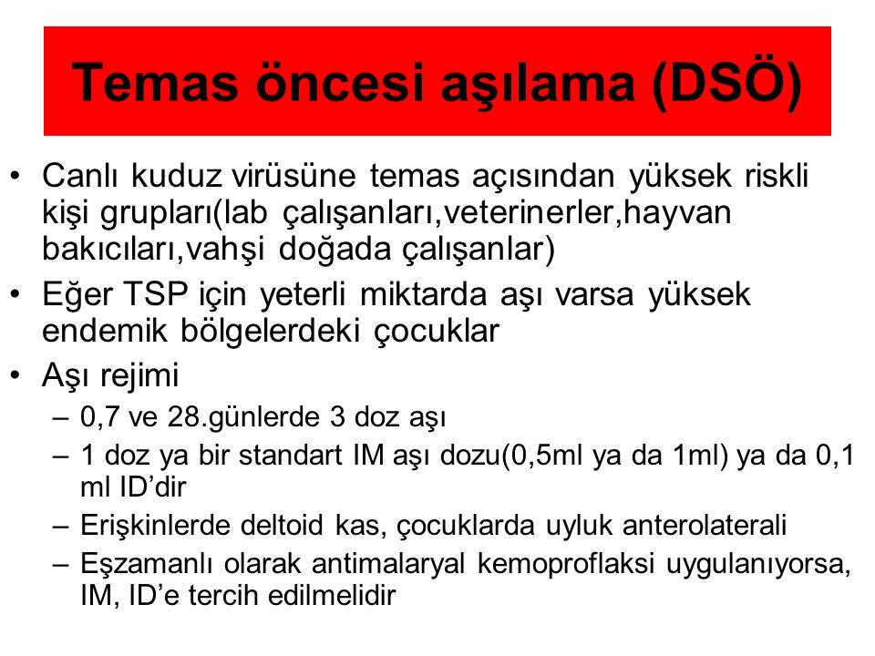 Temas öncesi aşılama (DSÖ)