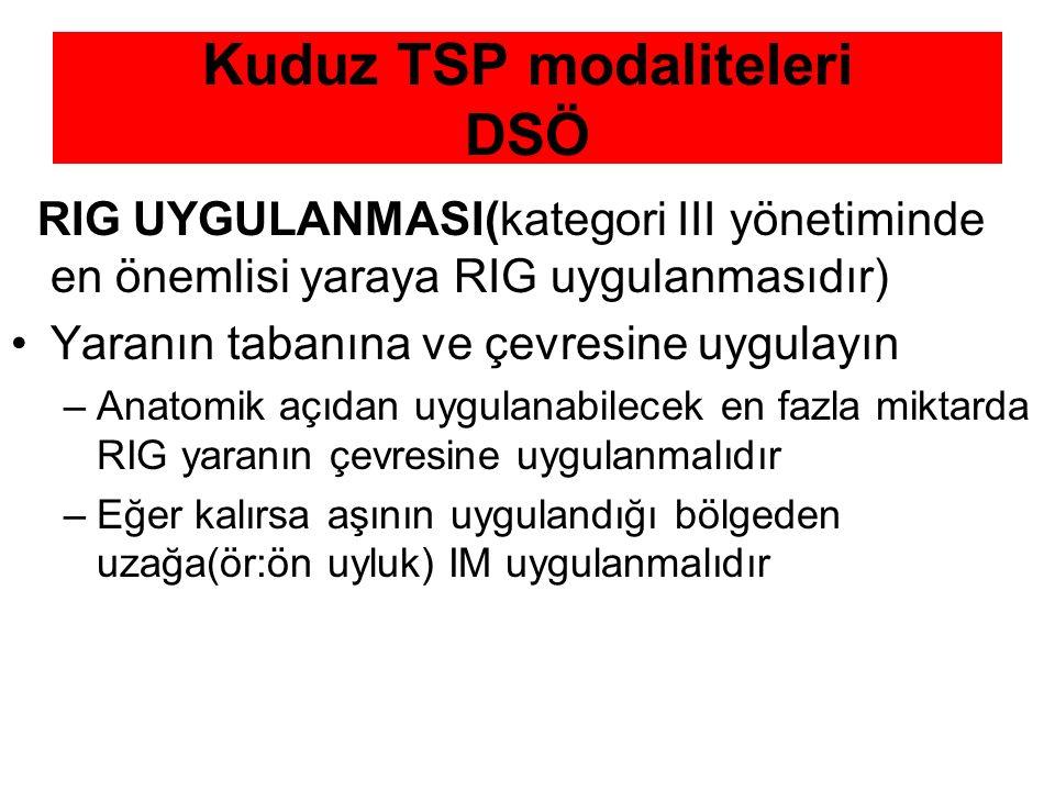 Kuduz TSP modaliteleri DSÖ