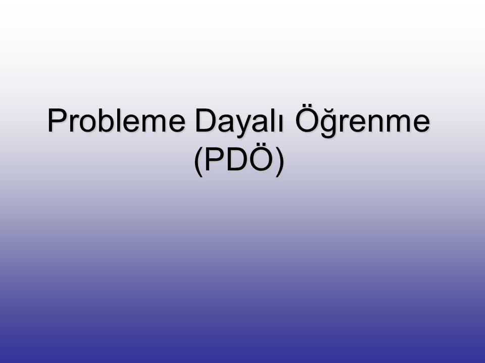 Probleme Dayalı Öğrenme (PDÖ)