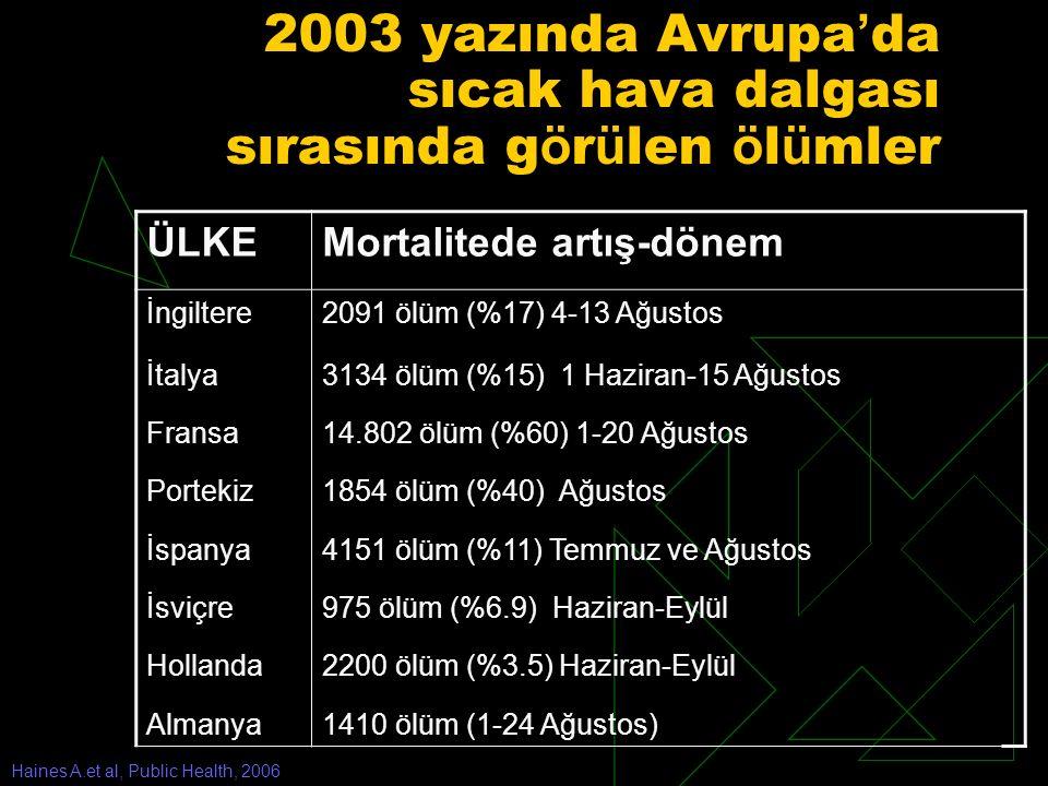2003 yazında Avrupa'da sıcak hava dalgası sırasında görülen ölümler