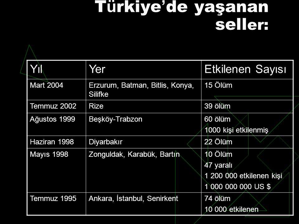 Türkiye'de yaşanan seller: