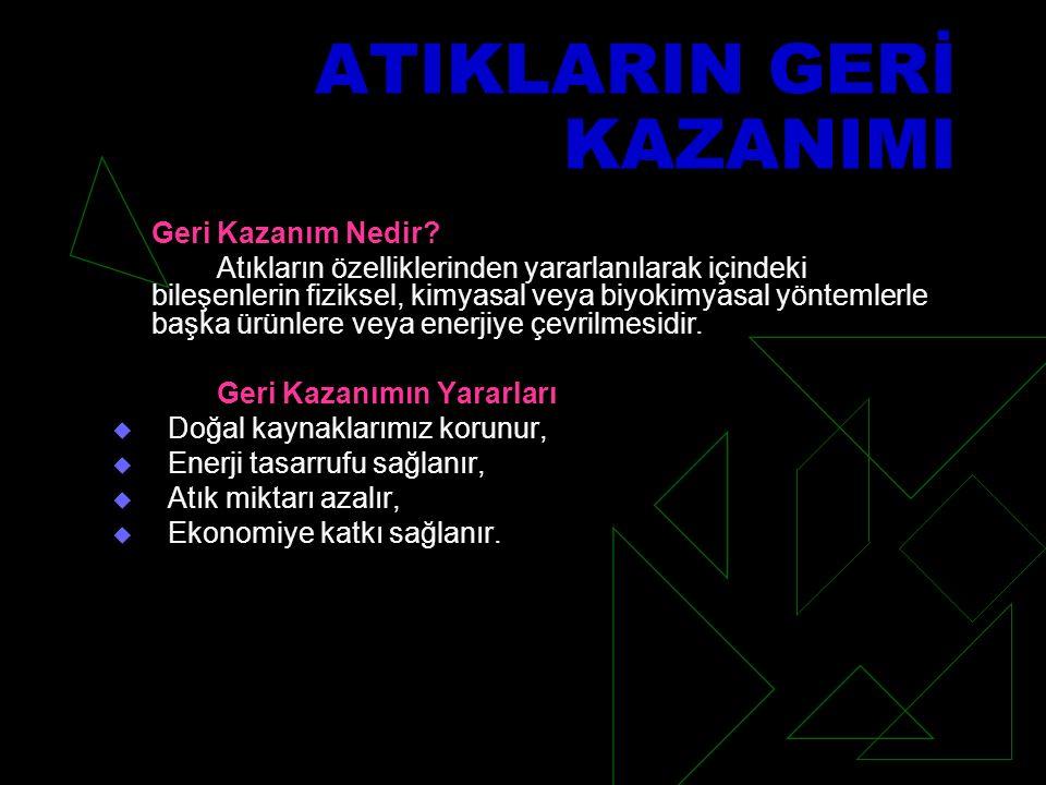 ATIKLARIN GERİ KAZANIMI