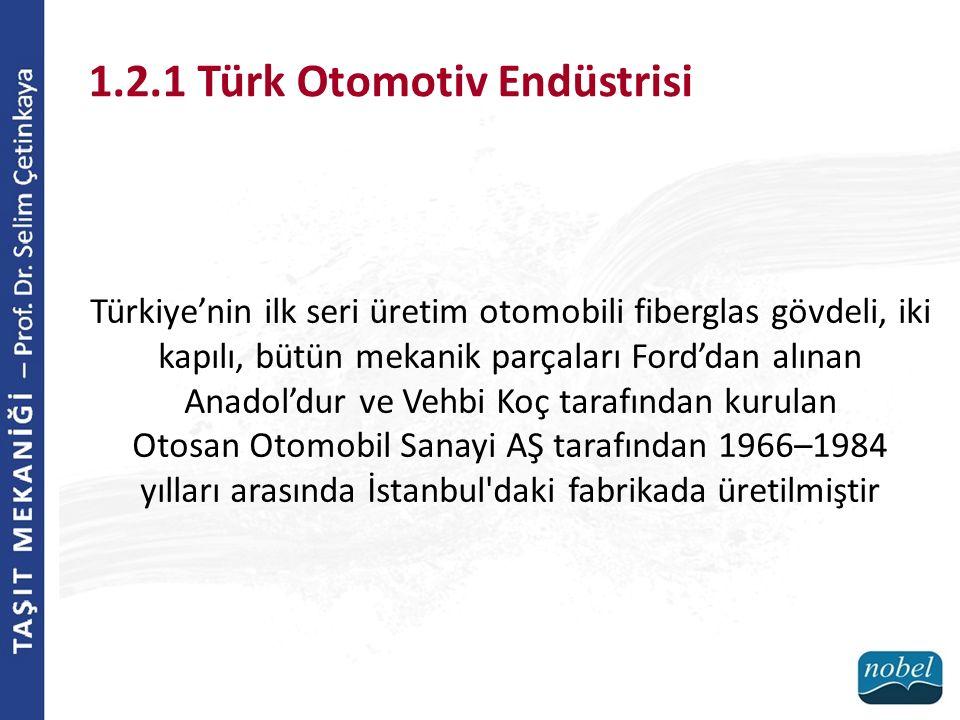 1.2.1 Türk Otomotiv Endüstrisi